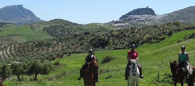 3 days horse trek to Zahara de la Sierra mid june