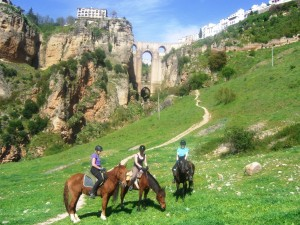 Horse trekking to Ronda